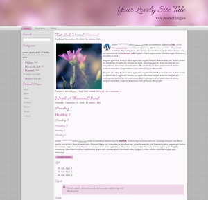 Lovely Pink WordPress Theme