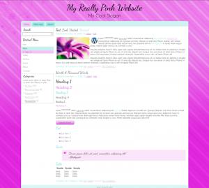 Pink WordPress Theme