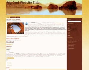 Gold Desert Premium WordPress Theme