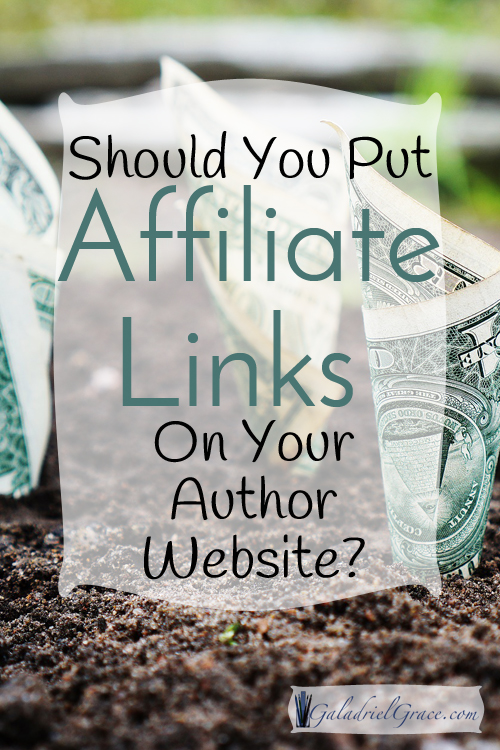 Is it OK to put affiliate links on an author website?