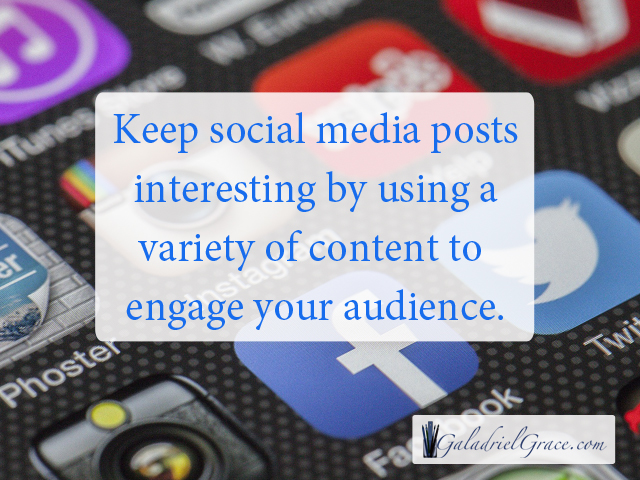 Authors Should Post a Variety of Content on Social Media